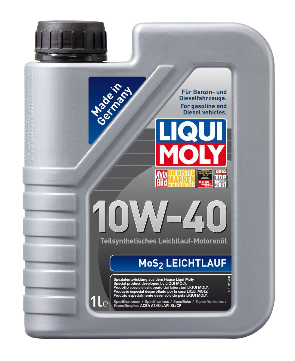 цена на Масло моторное Liqui Moly MoS2 Leichtlauf, полусинтетическое, 10W-40, 1 л