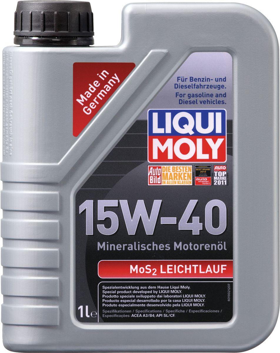 цена на Масло моторное Liqui Moly MoS2 Leichtlauf, минеральное, 15W-40, 1 л