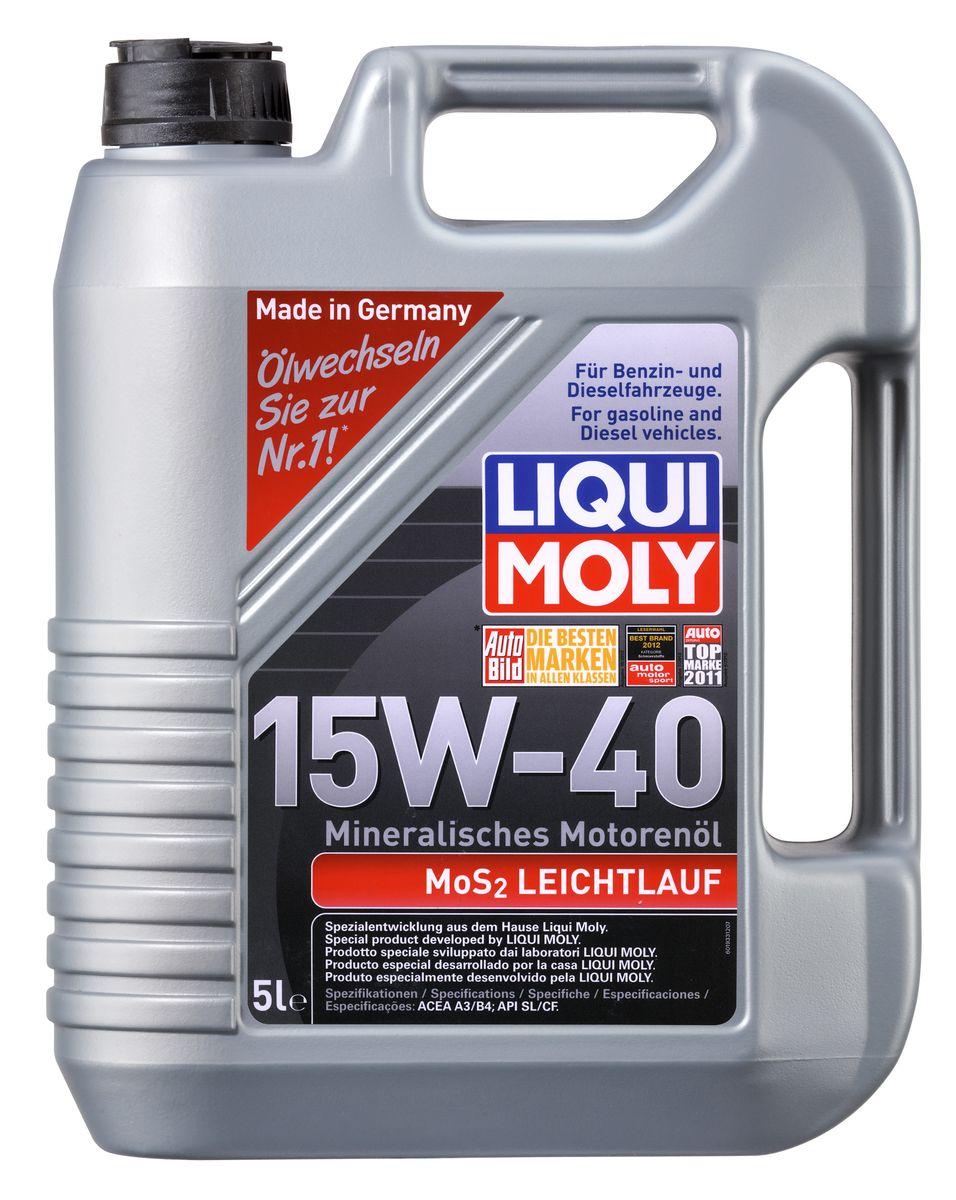 цена на Масло моторное Liqui Moly MoS2 Leichtlauf, минеральное, 15W-40, 5 л