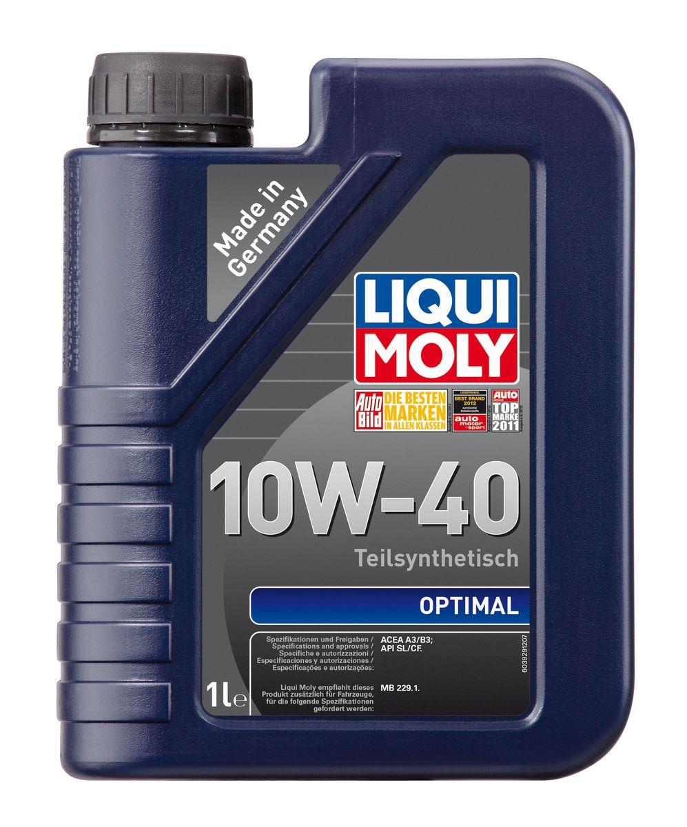 "Масло моторное Liqui Moly ""Optimal"", полусинтетическое, 10W-40, 1 л"