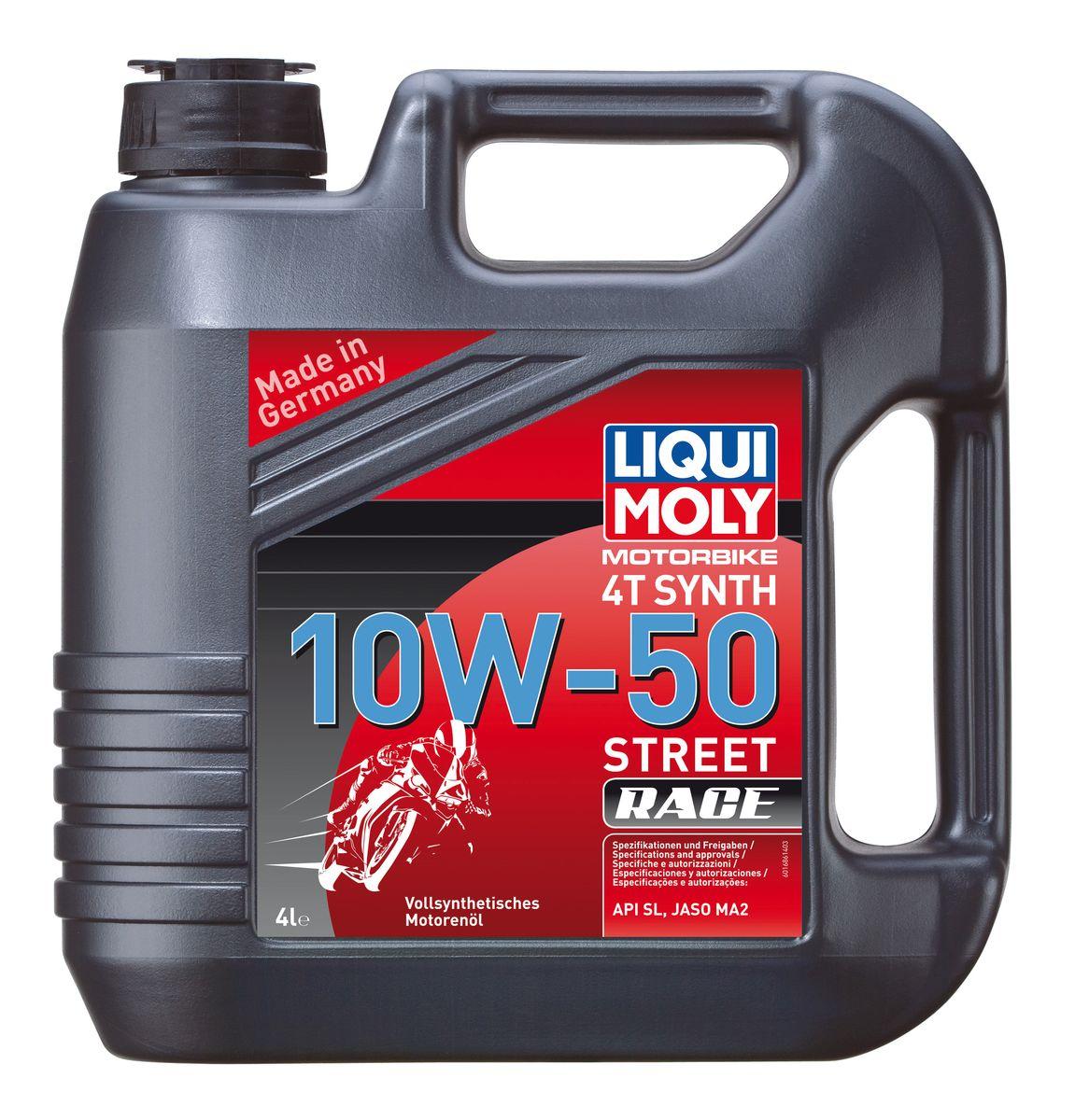 цена на Масло моторное Liqui Moly Motorbike 4T Synth Street Race, синтетическое, 10W-50, 4 л