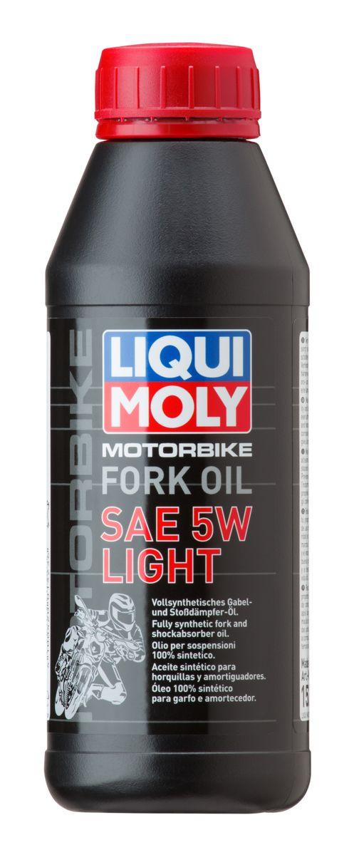 Масло для вилок и амортизаторов Liqui Moly Motorbike Fork Oil Light, синтетическое, 5W, 500 мл 2719 liquimoly синт масло д вилок и амортиз motorbike fork oil medium light 7 5w 1л