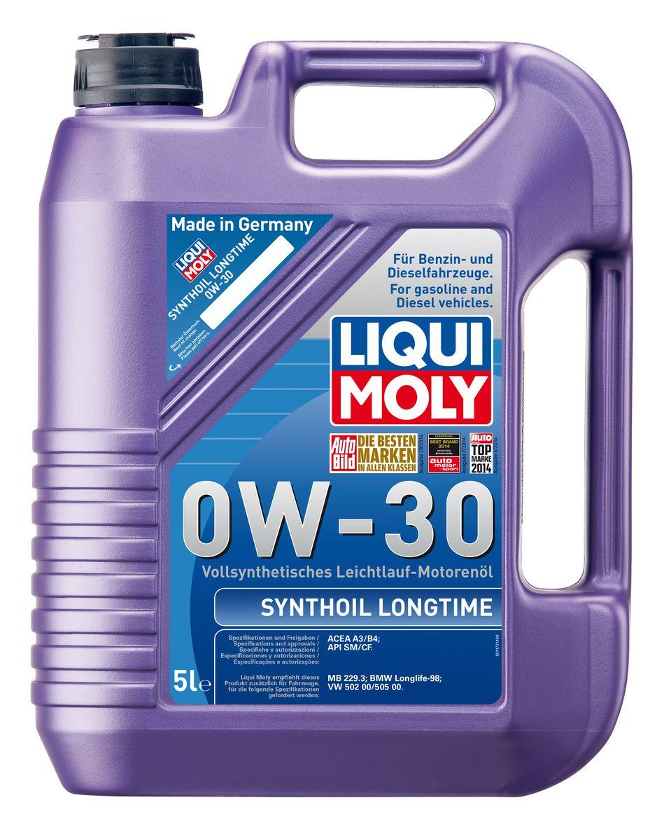 Масло моторное Liqui Moly Synthoil Longtime, синтетическое, 0W-30, 5 л liqui moly synthoil longtime plus 0w 30 5л