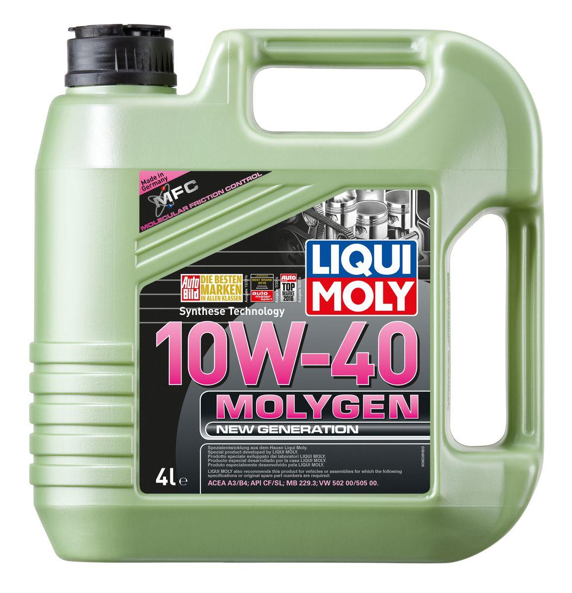 "Масло моторное Liqui Moly ""Molygen New Generation"", НС-синтетическое, 10W-40, 4 л"