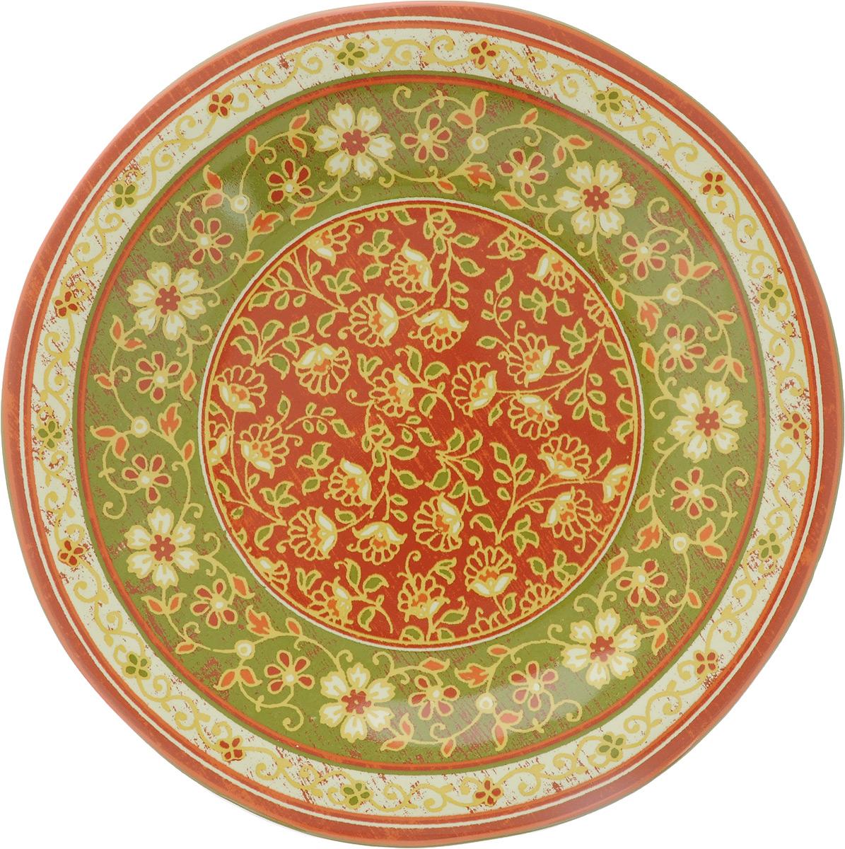 """Тарелка десертная Sango Ceramics """"Кашмир"""", диаметр 23 см"""