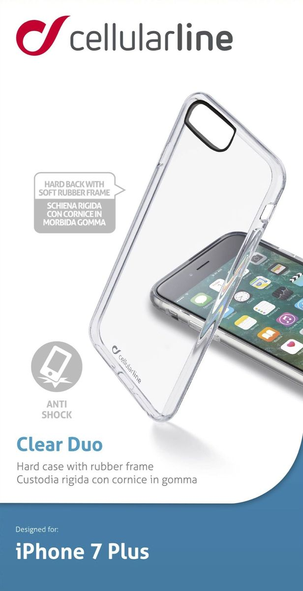 цена на Cellular Line чехол для iPhone 7 Plus/8 Plus, Clear