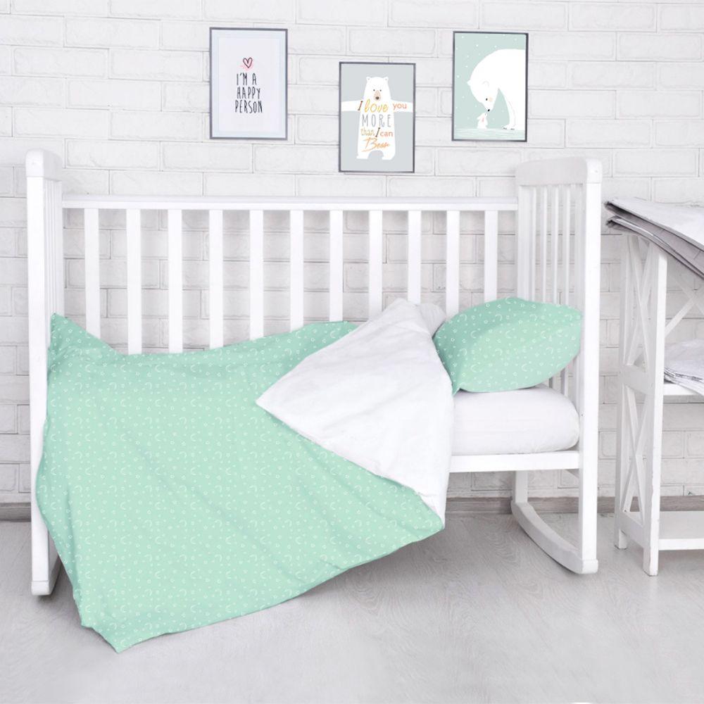 Комплект постельного белья детский Baby Nice Луны Звездочки цвет салатовый комплект постельного белья детский baby nice луны звездочки цвет салатовый