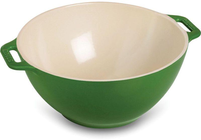 """Миска """"Staub"""", цвет: зеленый, диаметр 25 см"""
