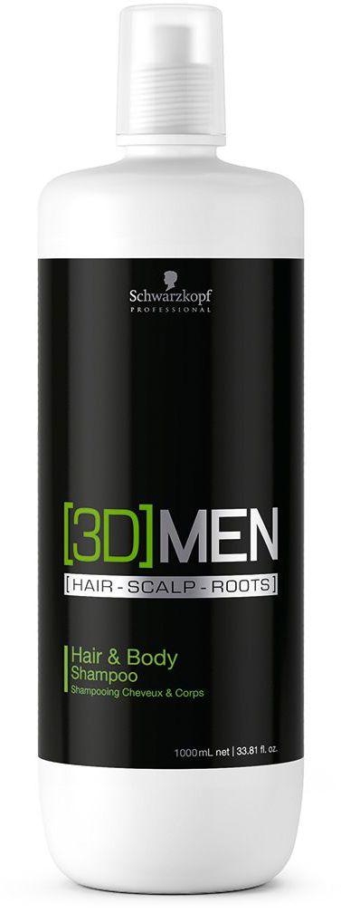 [3D]Men Hair & Body Шампунь для волос и тела 1000 мл