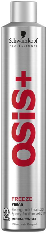 OSiS+ Лак для волос сильной фиксации Freeze 500 мл kapous studio лак для волос сильной фиксации линии 500 мл