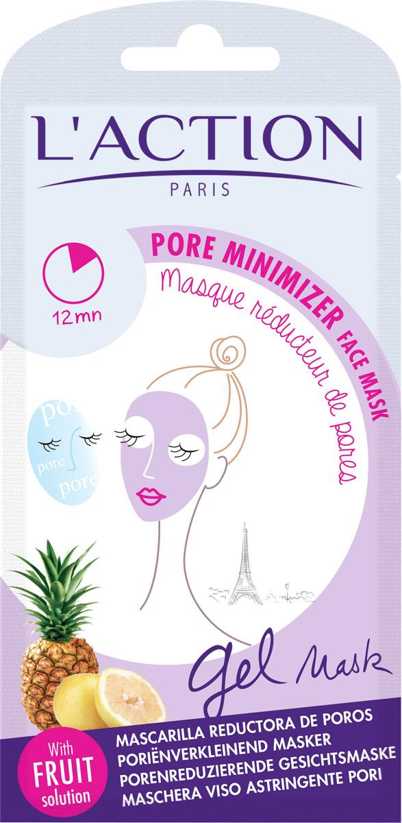 L'action Маска для лица уменьшающая поры Pore Minimizer, 15 г маска caolion pore blackhead eliminating t zone strip