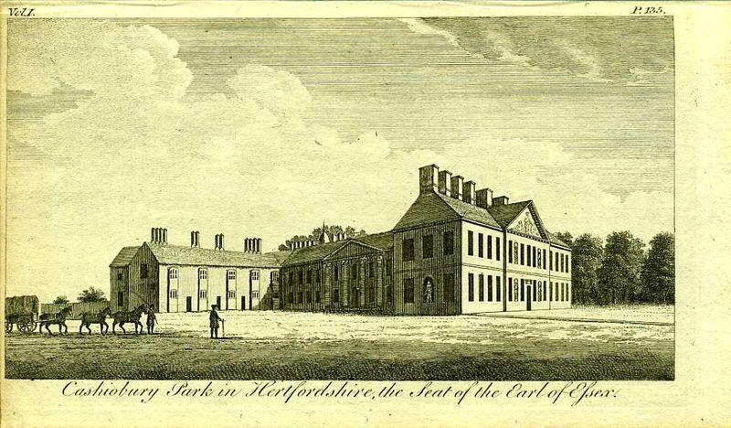 Англия. Поместье графа Эссекса Кассиобери в Хартфордшире. Резцовая гравюра. Англия, Лондон, 1776 год англия гансбери хаус резиденция принцессы амелии резцовая гравюра англия лондон 1776 год