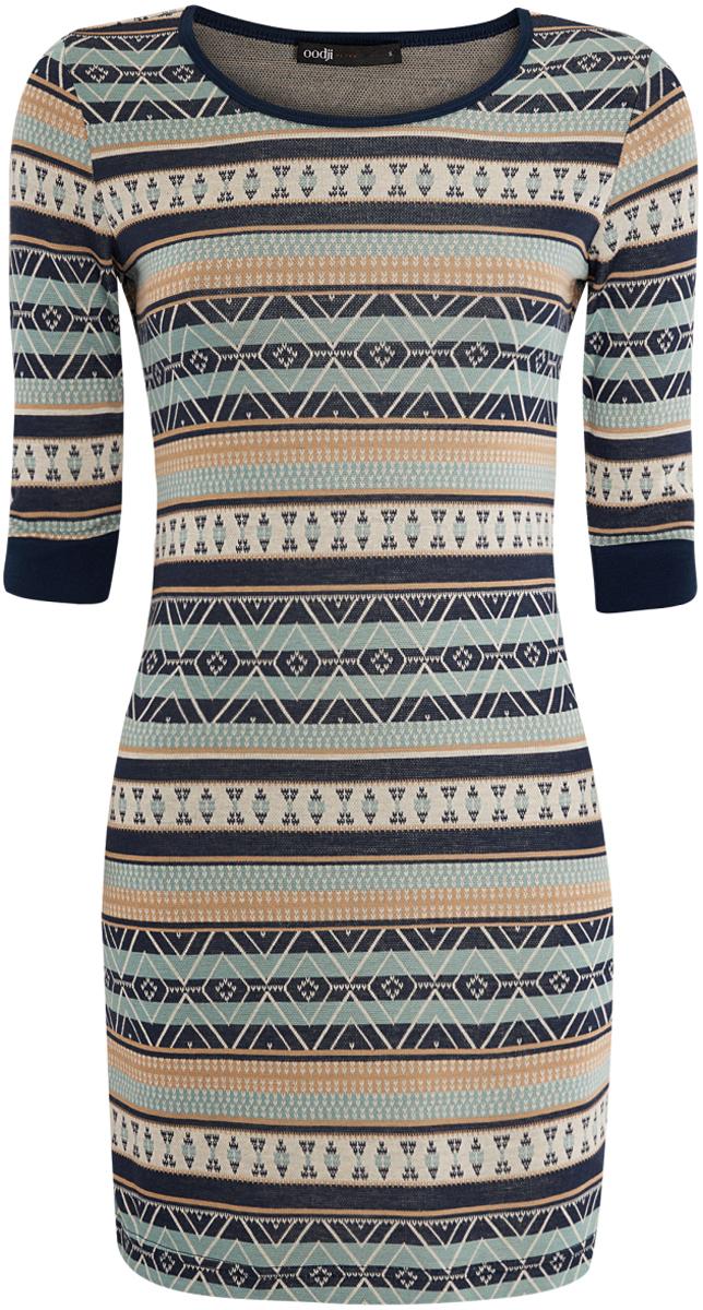 Платье oodji Ultra облегающее платье с рукавами 3 4 berenis page 7
