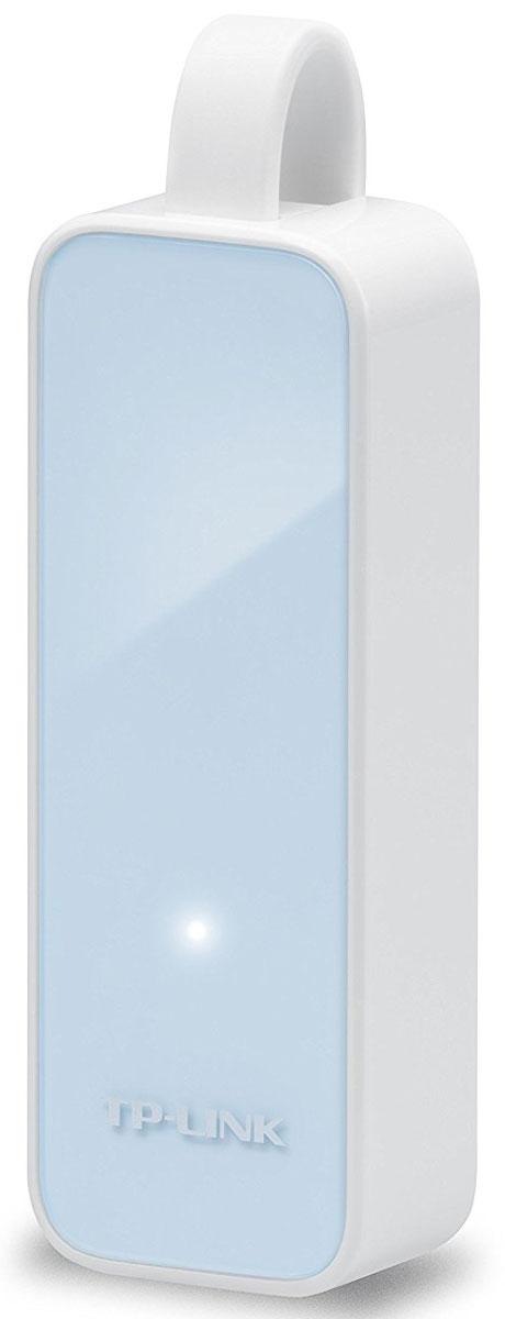 TP-Link UE200, White Blue сетевой адаптер сетевая карта tp link usb 2 0 ethernet ue200