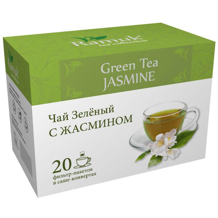 Ramuk чай зеленый с жасмином в пакетиках, 20 шт