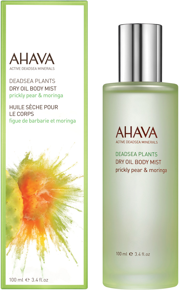 Ahava Deadsea Plants Сухое масло для тела опунция и моринга 100 мл