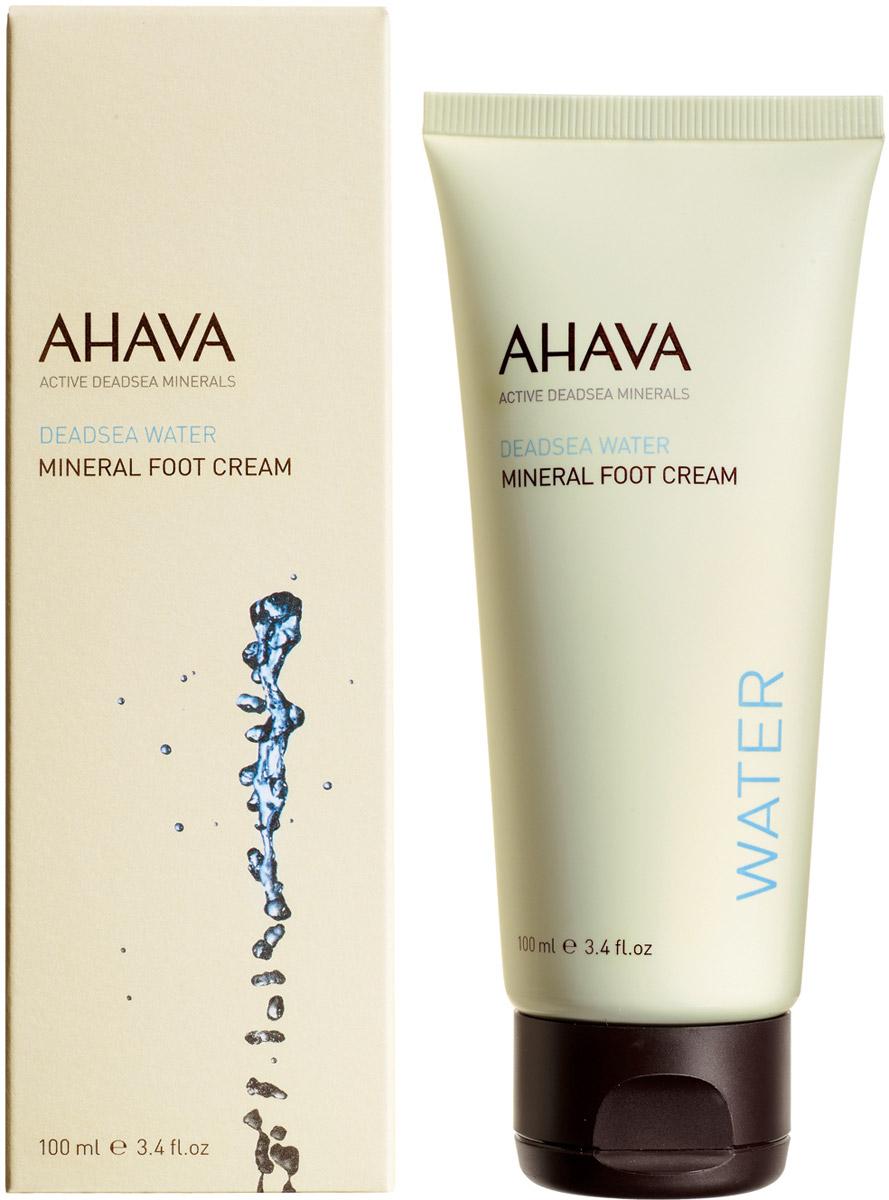 Ahava Deadsea Water М Минеральный крем для ног 100 мл ahava набор deadsea water крем для рук минеральный 100 мл крем для ног минеральный 100 мл