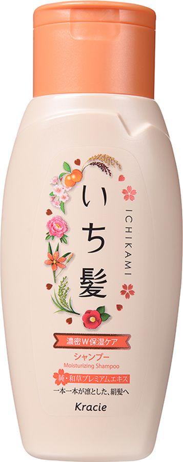 """Kracie 72151kr """"Ichikami"""" Шампунь интенсивно увлажняющий для поврежденных волос с маслом абрикоса 150 мл"""