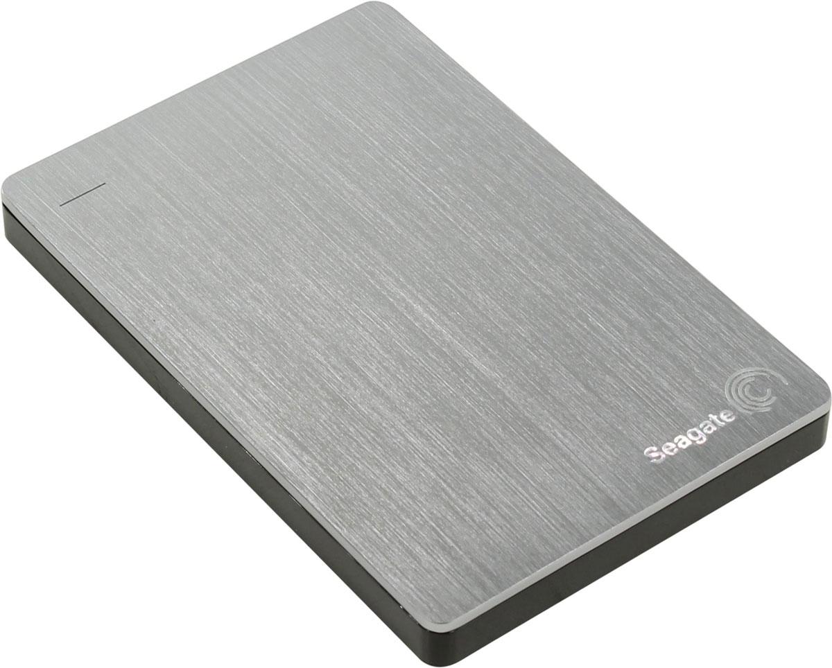 Портативный внешний жесткий диск Seagate HDD 2 TB Backup Plus Slim, 2.5, USB 3.0, серебристый портативный внешний жесткий диск seagate hdd 2 tb backup plus slim 2 5 usb 3 0 красный