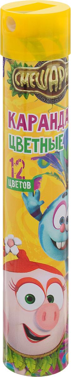 Centrum Набор цветных карандашей Смешарики 12 шт