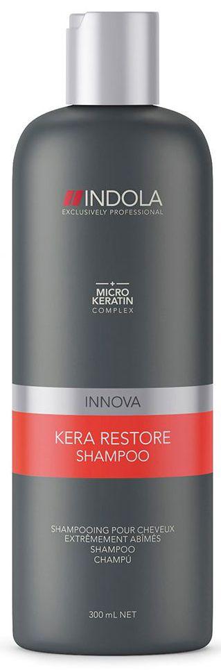 Indola Шампунь Кератиновое Восстановление Kera Restore Shampoo 300 мл шампунь indola repair shampoo объем 300 мл