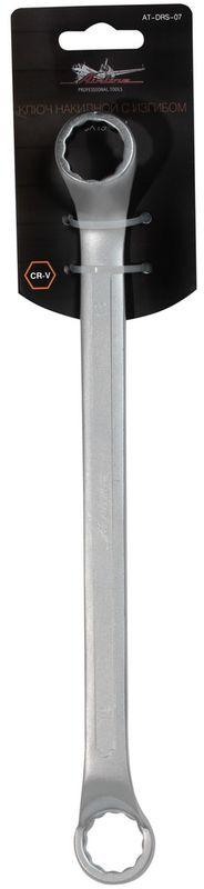 Ключ гаечный накидной Airline, с изгибом, 18 х 19 мм ключ накидной airline at drs 05 14 15 мм с изгибом
