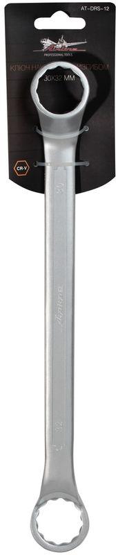 Ключ гаечный накидной Airline, с изгибом, 30 х 32 мм ключ накидной airline at drs 05 14 15 мм с изгибом