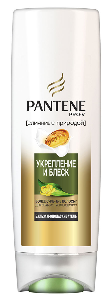 Pantene Pro-V Бальзам-ополаскиватель Слияние с природой. Укрепление и блеск, 360 мл бальзам для волос pantene pro v бальзам ополаскиватель питание и блеск 200 мл