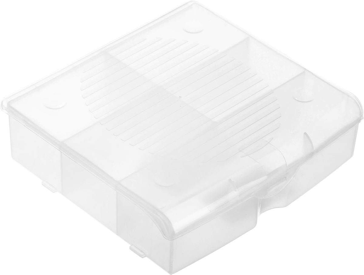 Органайзер для мелочей Blocker, цвет: прозрачный, 14 х 13 х 4,1 смПЦ3712ПРМТОрганайзер для мелочей Blocker предназначен для оптимальной организации пространства. Внутреннее деление делает удобным размещение внутри блока деталей, которые необходимо отделить друг от друга, а прозрачная крышка позволяет увидеть содержимое, не открывая блок. Подходит для хранения швейных принадлежностей, мелких деталей и рыболовных снастей. Крышка плотно закрывается и предотвращает потерю содержимого. Органайзер содержит 5 отделений: одно большего размера и 4 одинаковых отсека. Размер большего отделения: 13,2 х 3,2 см. Размер одного небольшого отделения: 6,5 х 3,8 см. Рекомендуем!