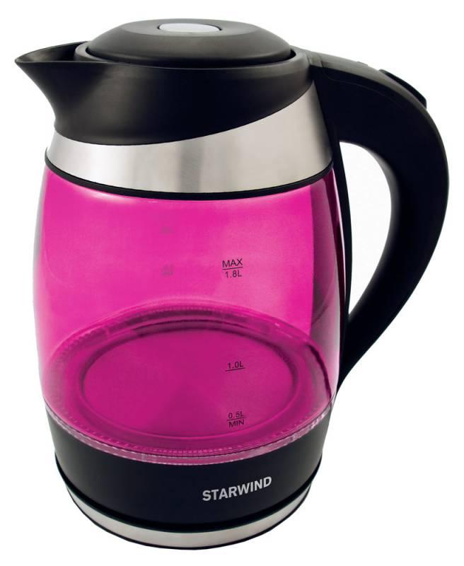 Электрический чайник Starwind SKG2214, Pink цена и фото