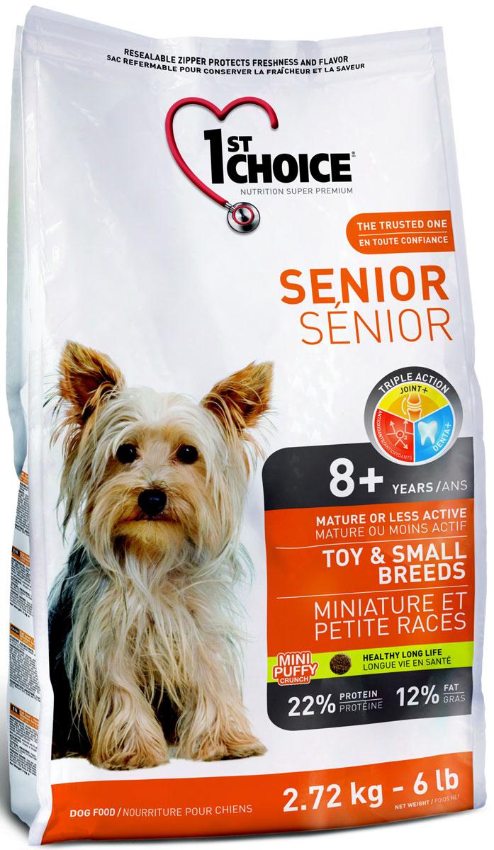 """Корм сухой 1st Choice """"Senior"""" для пожилых собак миниатюрных и мелких пород, с курицей, 2,72 кг"""