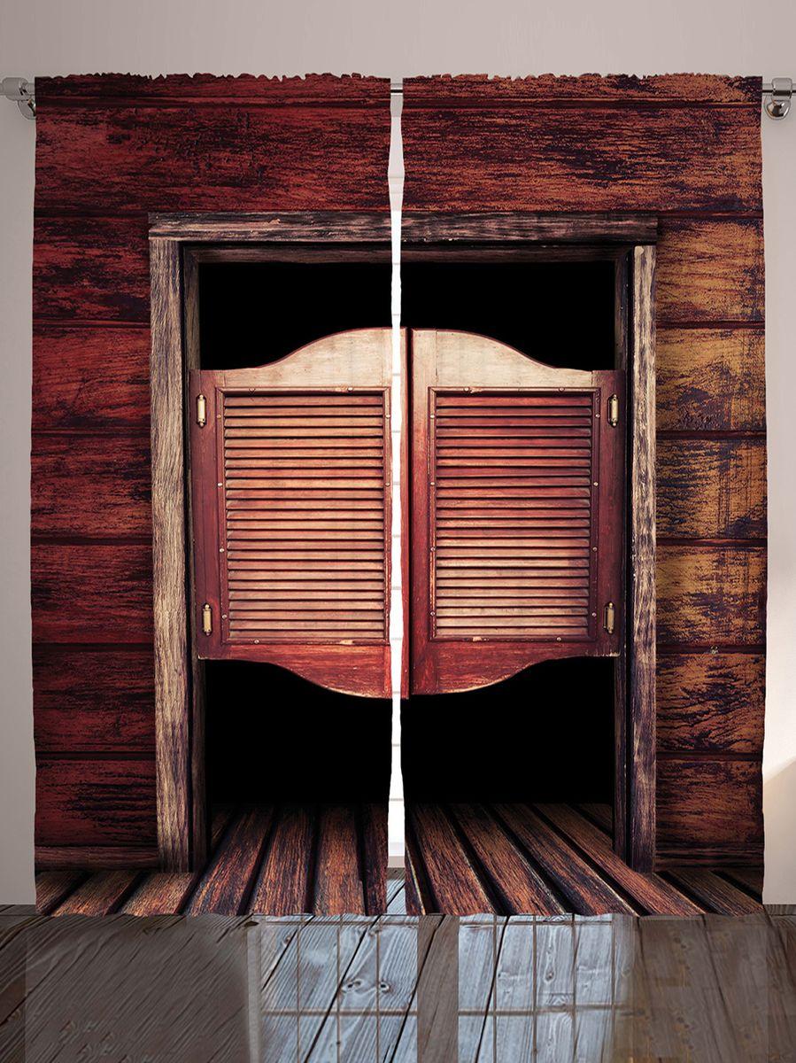 "Комплект фотоштор Magic Lady ""Двери салуна"", на ленте, высота 265 см. шсг_10243"