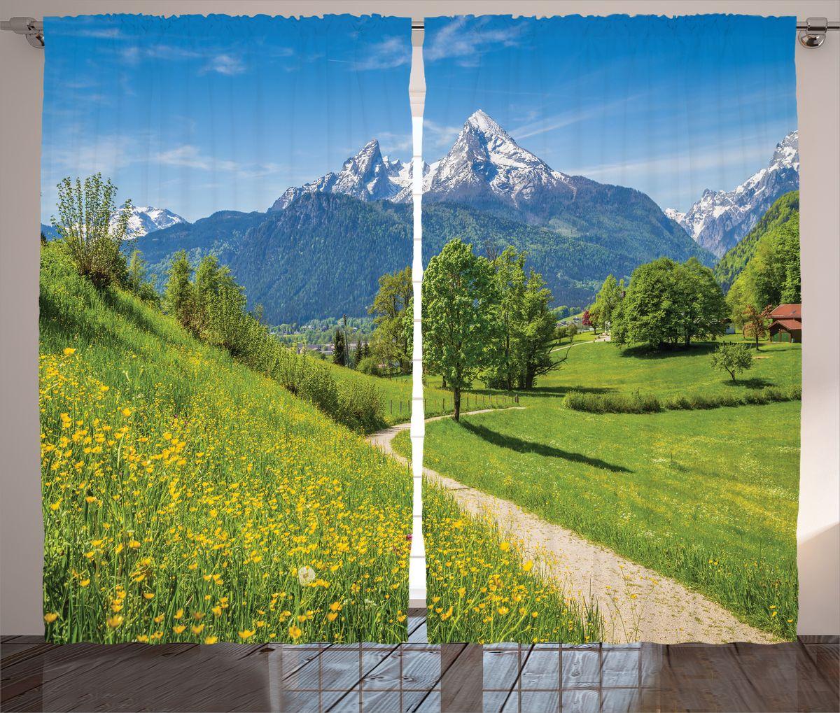 """Комплект фотоштор Magic Lady """"Дорога в деревню"""", на ленте, высота 265 см. шсг_15312"""