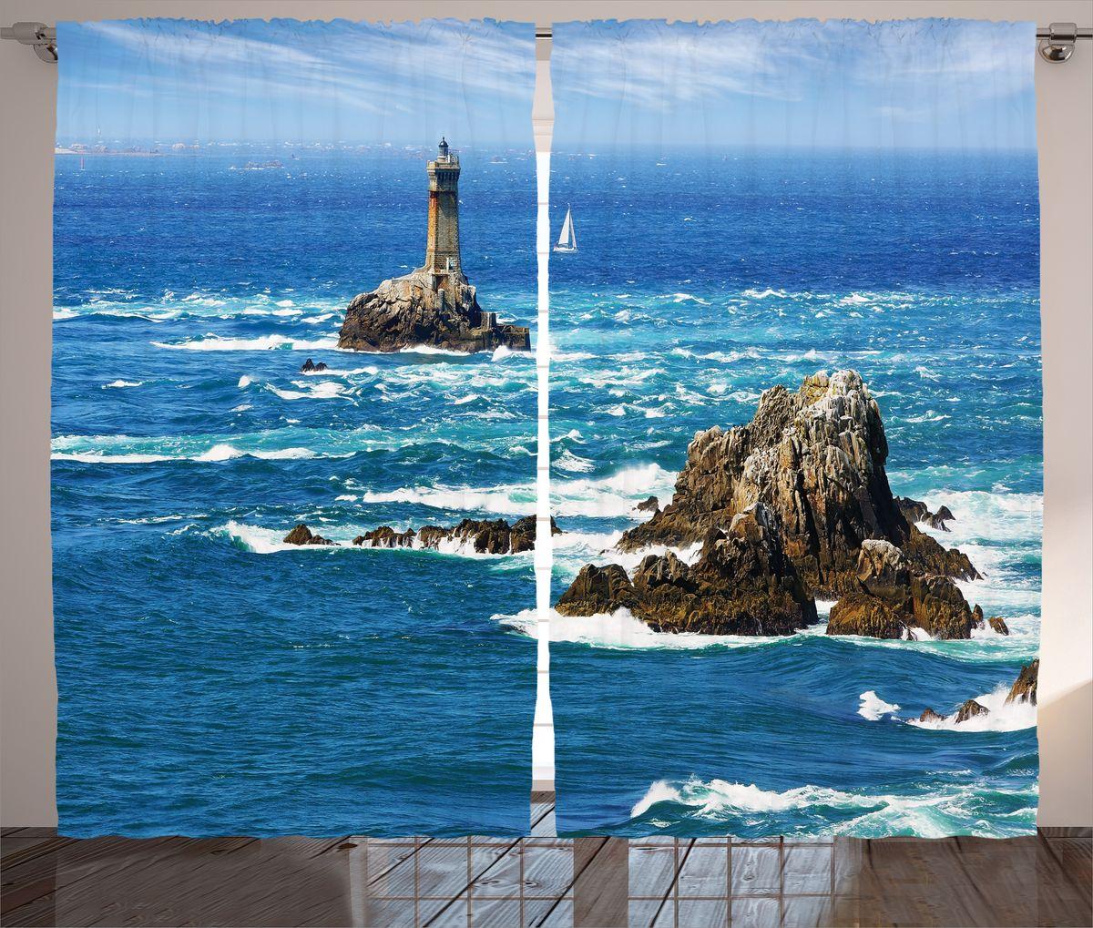 """Комплект фотоштор Magic Lady """"Маяк на острове"""", на ленте, высота 265 см. шсг_16340"""