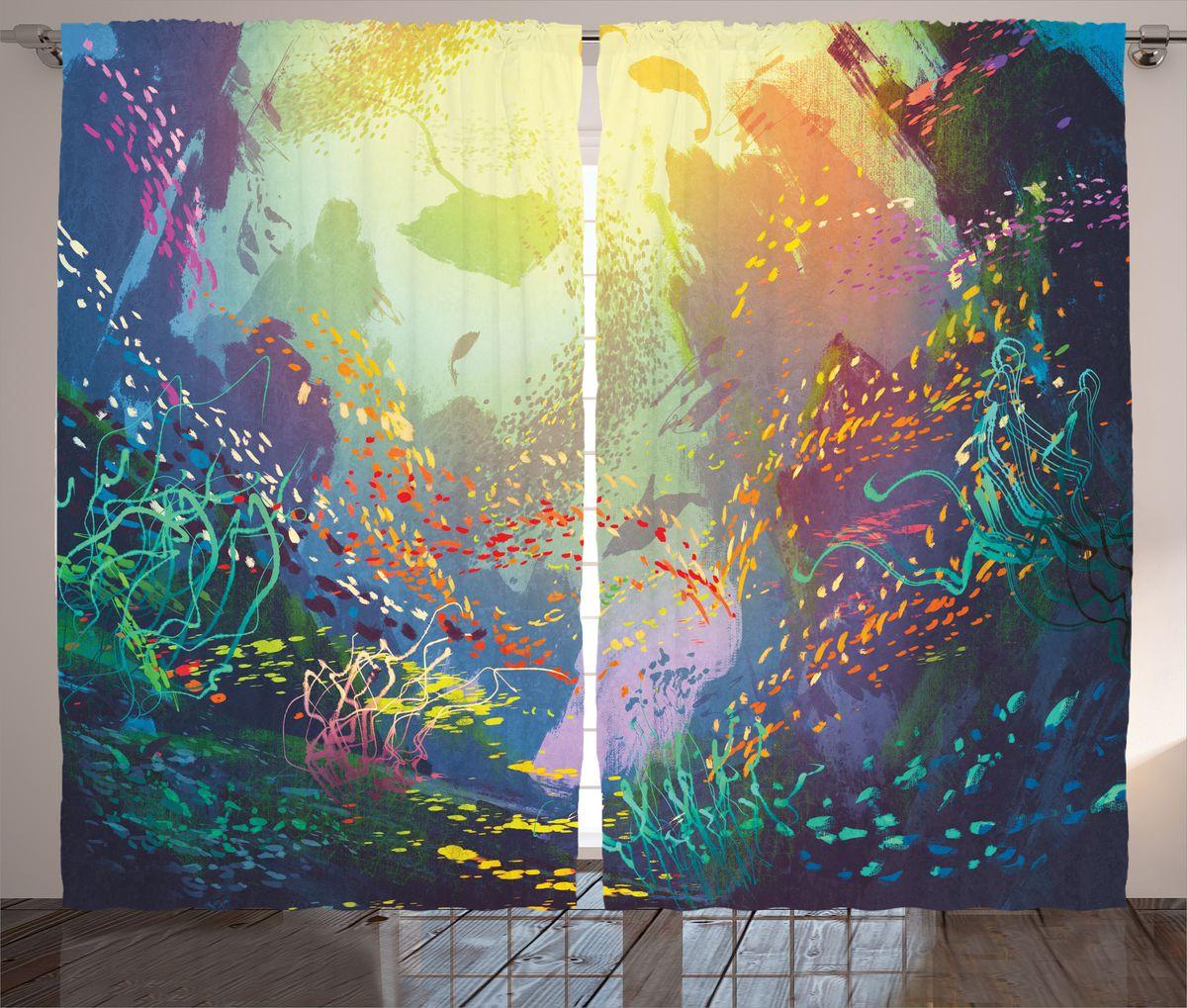 """Комплект фотоштор Magic Lady """"Красота подводного мира"""", на ленте, высота 265 см. шсг_17281"""