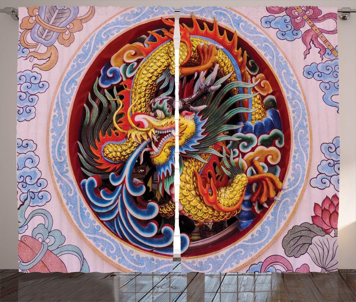 "Комплект фотоштор Magic Lady ""Китайский дракон"", на ленте, высота 265 см. шсг_17907"