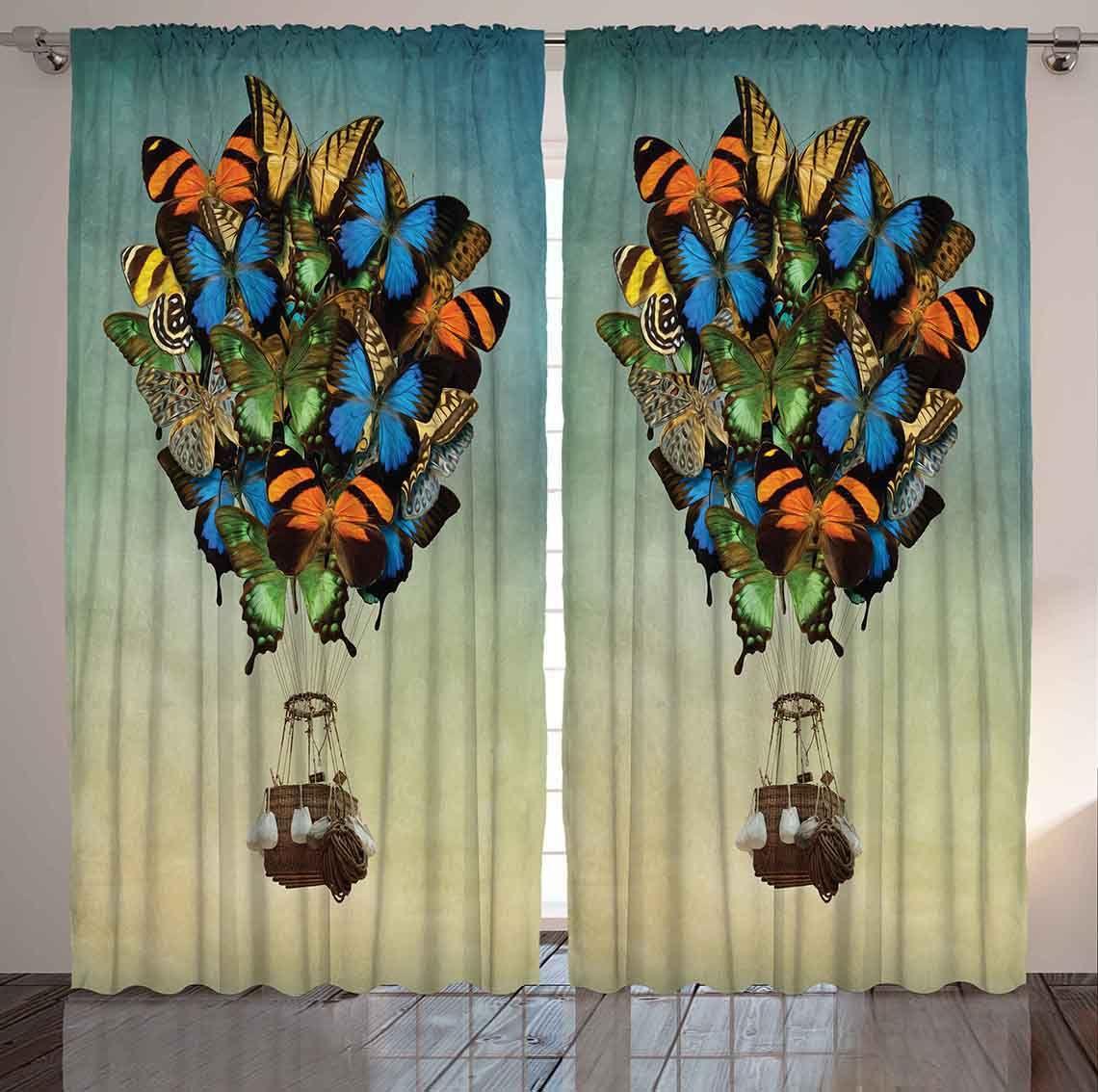 """Комплект фотоштор Magic Lady """"Бабочки, несущие воздушный шар"""", на ленте, высота 265 см. шсг_3542"""