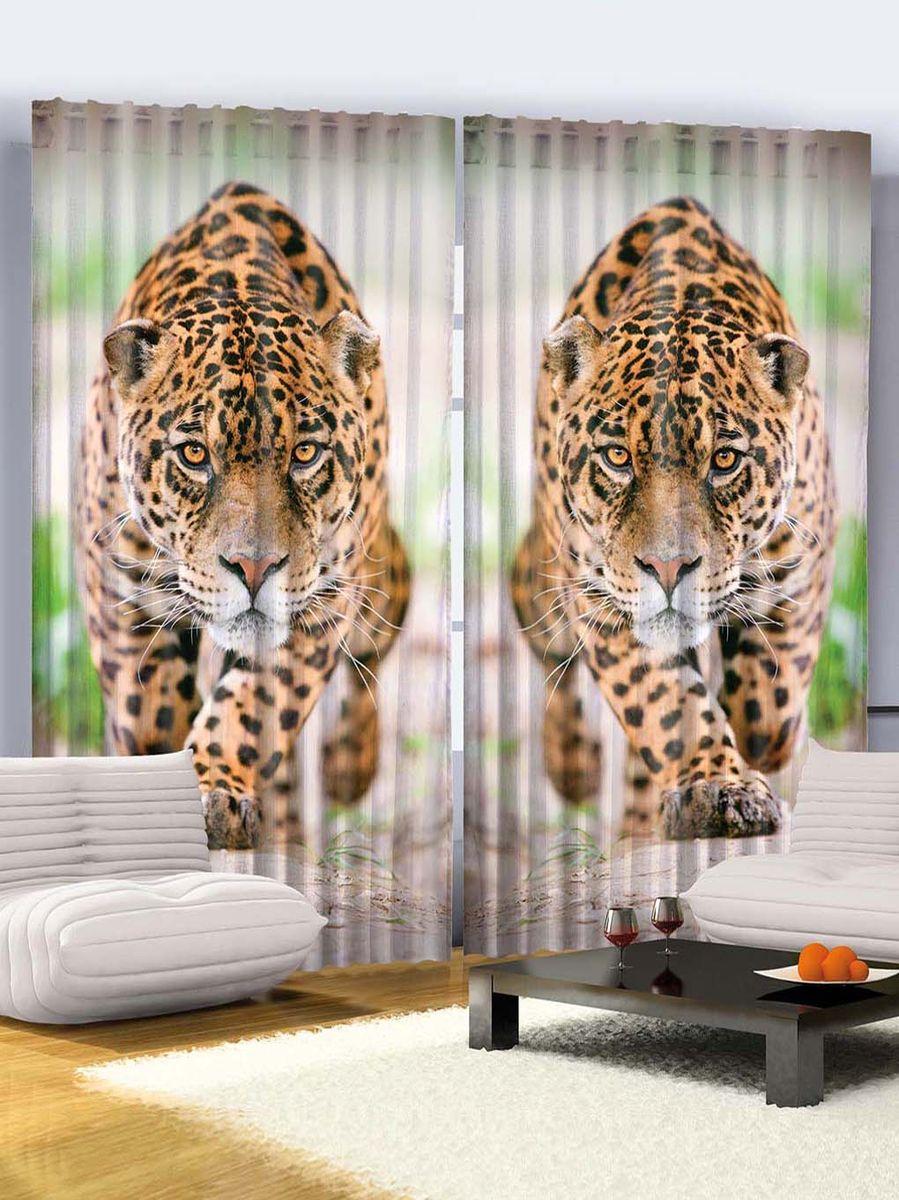 """Комплект фотоштор Magic Lady """"Хищный леопард"""", на ленте, высота 265 см. шсг_768"""