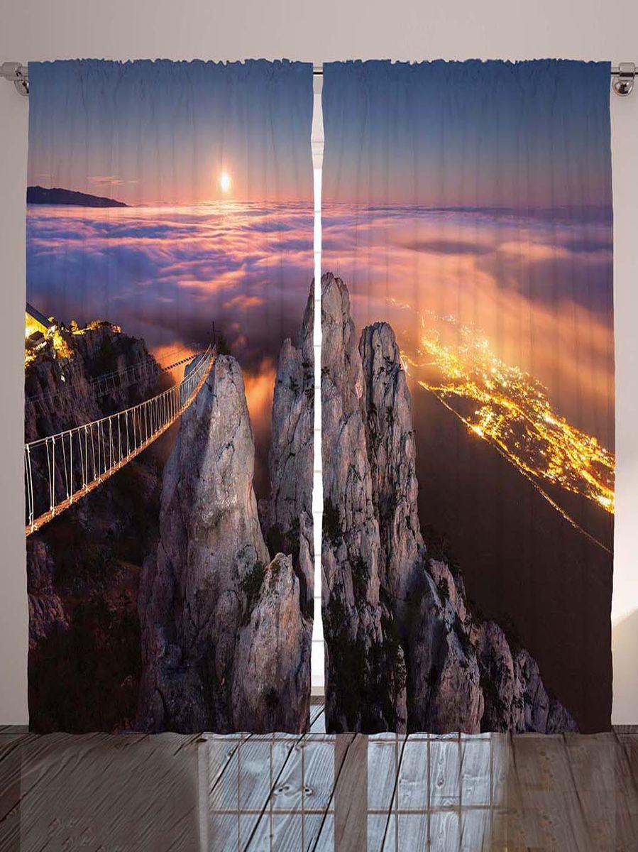 """Комплект фотоштор Magic Lady """"Подвесной мост"""", на ленте, высота 265 см. шсг_8919"""