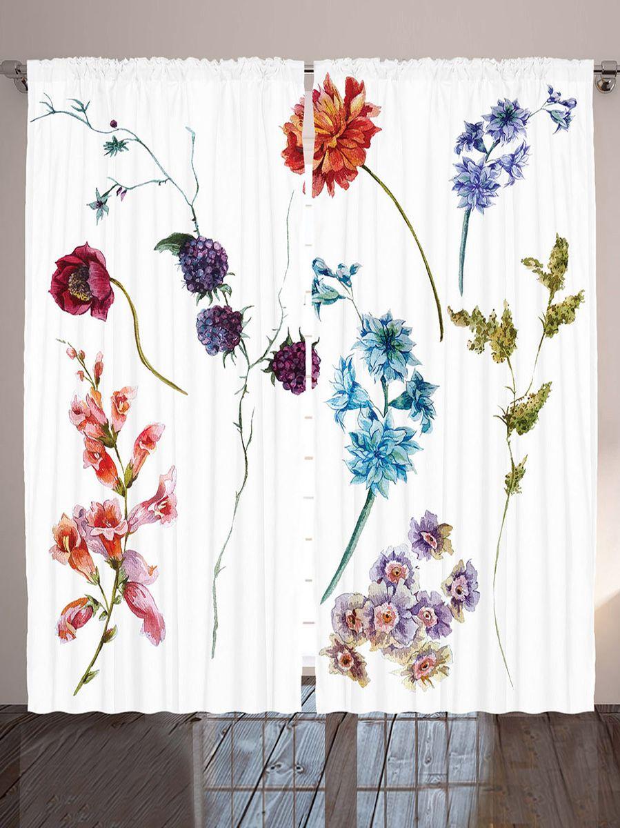 """Комплект фотоштор Magic Lady """"Цветы и ягоды"""", на ленте, высота 265 см. шсг_9119"""
