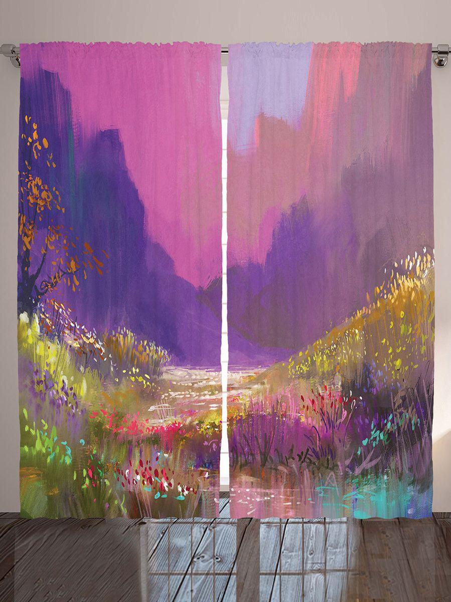 """Комплект фотоштор Magic Lady """"Весна в розовой долине"""", на ленте, высота 265 см. шсг_9189"""