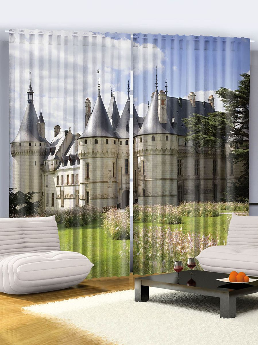 "Комплект фотоштор Magic Lady ""Замок Шомон-сюр-Луар"", на ленте, высота 265 см. шсг_952"