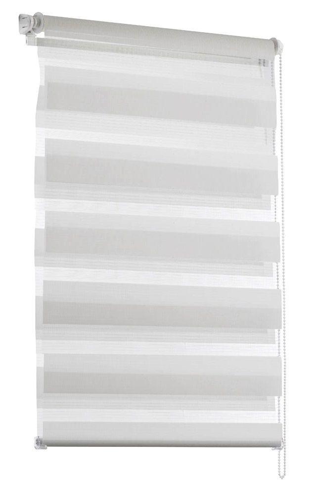 """Штора рулонная Эскар""""Миниролло. День-Ночь"""", цвет: белый, ширина 52 см, высота 150 см"""