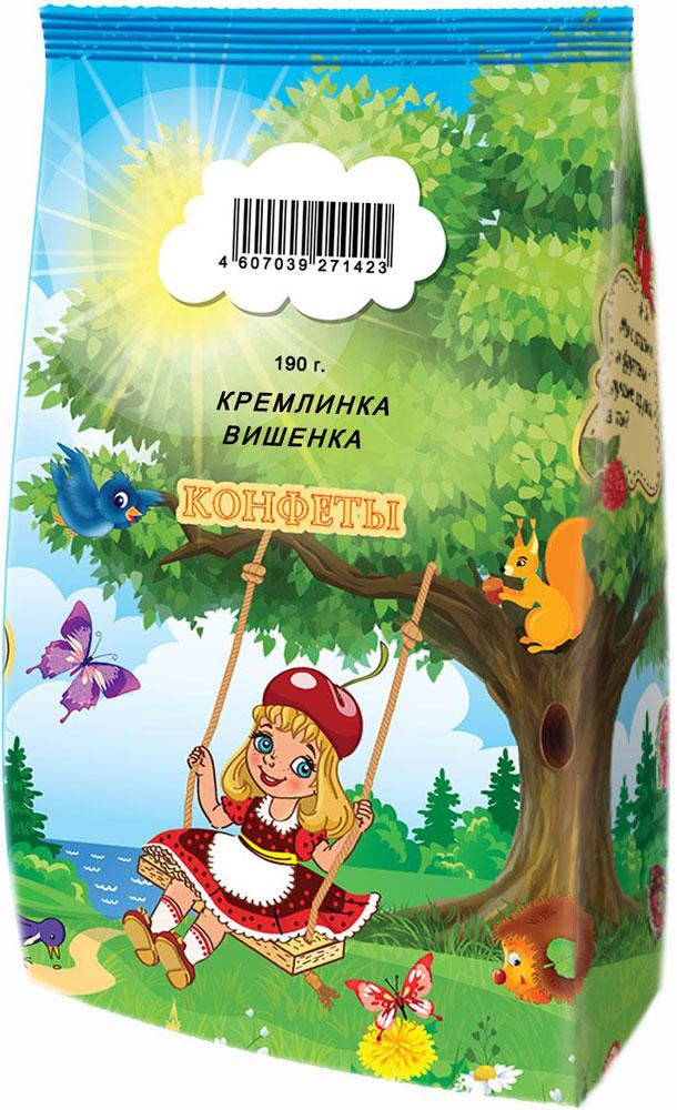 Кремлина Кремлинка вишенка конфеты глазированные с начинкой, 190 г кремлина мамапапа флами микс подушечки 5 злаков с помадной начинкой в клубничной и йогуртовой глазури 140 г