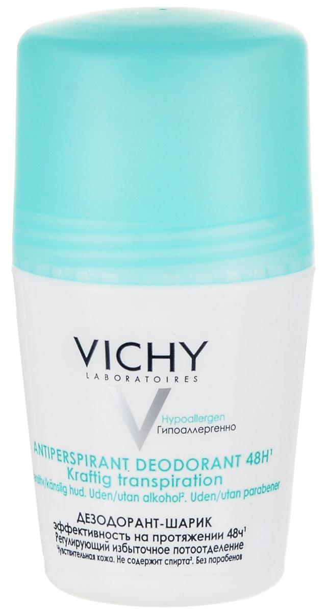 Vichy Дезодорант шариковый, регулирующий избыточное потоотделение, 50 мл