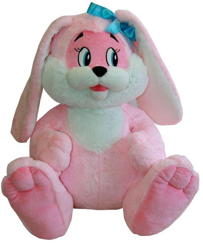 СмолТойс Мягкая игрушка Зайчик цвет розовый 45 см