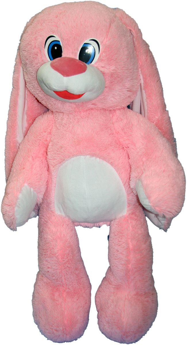 СмолТойс Мягкая игрушка Зайчонок цвет розовый 100 см