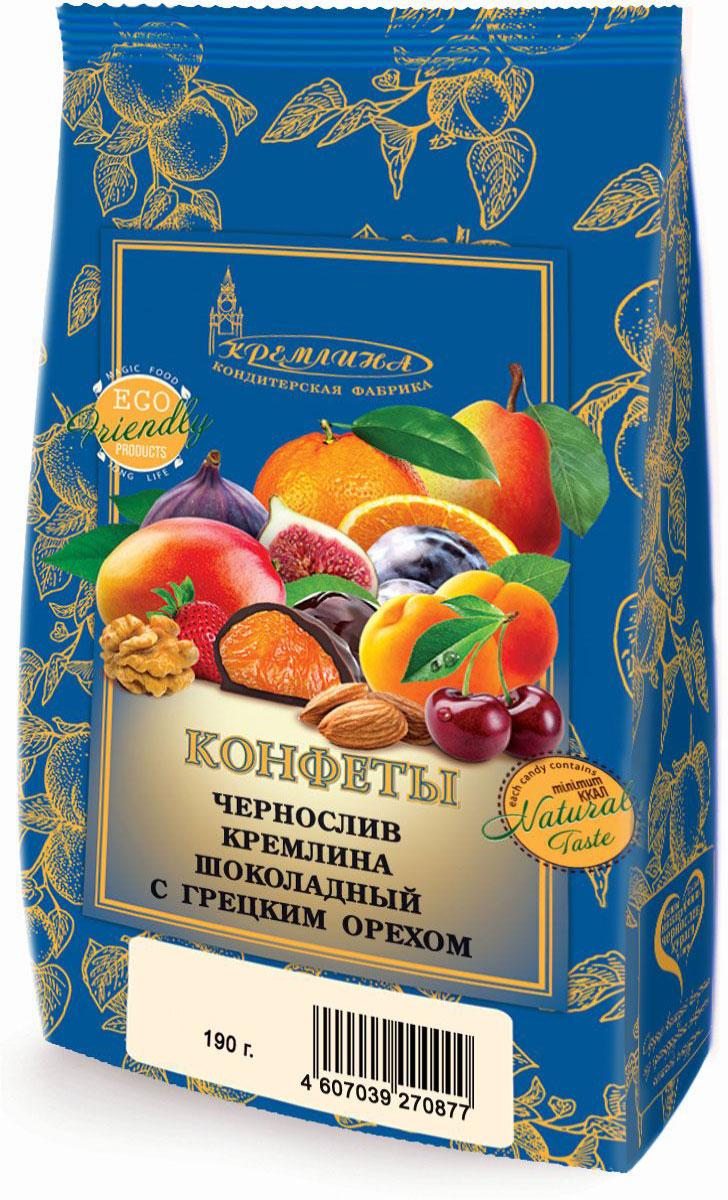 Кремлина Чернослив в шоколаде с грецким орехом, 190 г