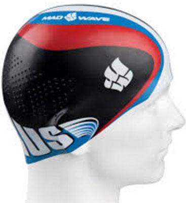 Шапочка для плавания MadWave Racing, цвет: черный