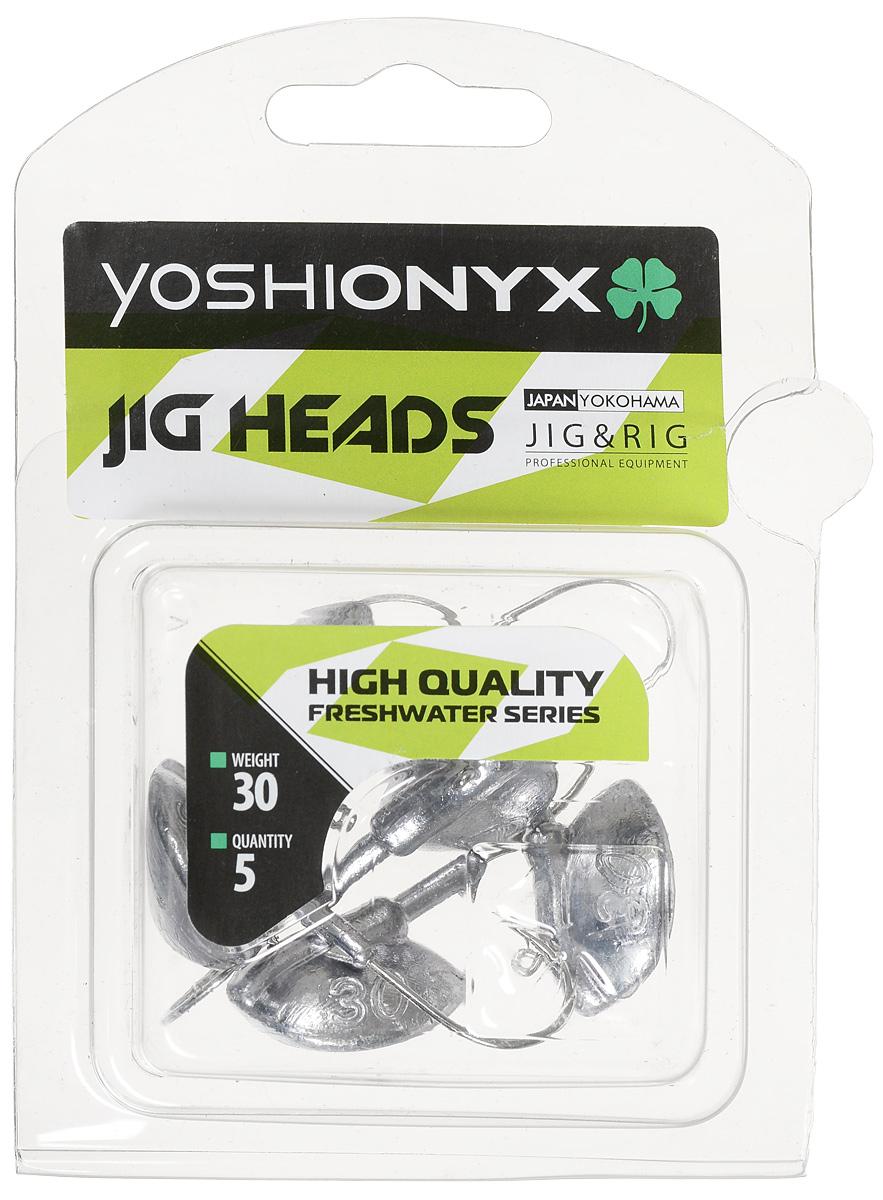 Джиг-головка Yoshi Onyx JIG Bros. Каблучок, крючок Gamakatsu, 30 г, 5 шт джиг головка caperlan джиг головка для ловли на блесну round jig head 7 г x15